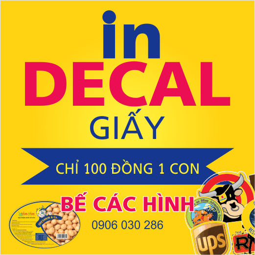 In nhãn decal giấy, in tem decal giấy